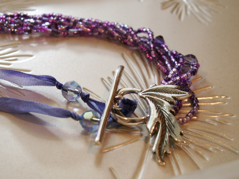 Hand-Dyed Silk and Sead Beads
